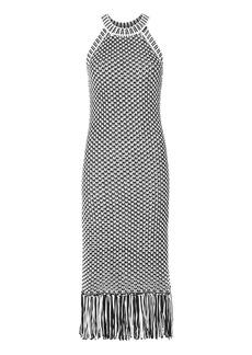Intermix Teegan Fringe Knit Dress