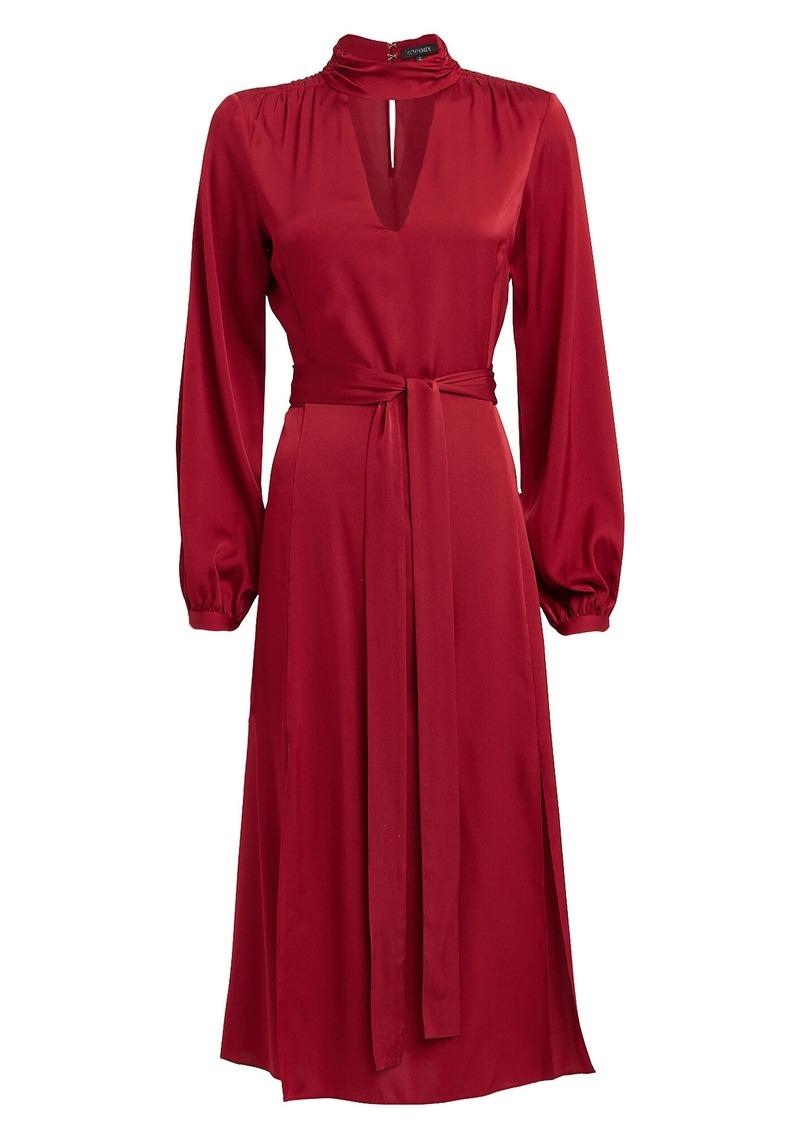 Intermix Victoria Silk Midi Dress