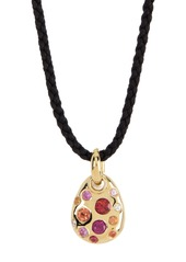 Ippolita 18K Gold Fortuna Small Pebble Sapphire & Diamond Cord Necklace
