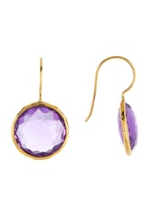 Ippolita 18K Gold Lollipop(R) Dark Amethyst Drop Earrings
