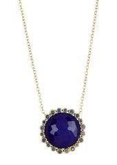 Ippolita 18K Gold Lollipop(R) Large Linear Lapis & Blue Sapphire Doublet Necklace