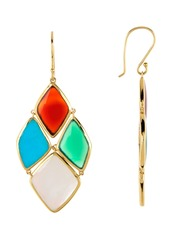 Ippolita 18K Gold Polished Rock Candy 4 Stone Cascade Earrings