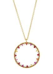 Ippolita 18K Gold Prisma Dots Sapphire & Diamond Open Circle Necklace