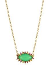 Ippolita 18K Gold Prisma Horizontal Sapphire & Chalcedony Marquise Necklace