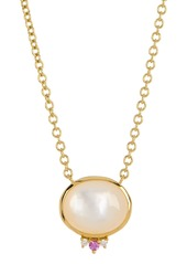 Ippolita 18K Gold Prisma Mother-of-Pearl, Pink Sapphire, & Diamond Necklace