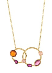 Ippolita 18K Gold Rock Candy(R) Double Circle Stone Necklace