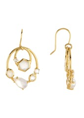 Ippolita 18K Gold Rock Candy(R) Small Mixed Stone Double Oval Link Earrings