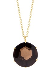 Ippolita 18K Gold Round Smokey Quartz Gemma Pendant Necklace