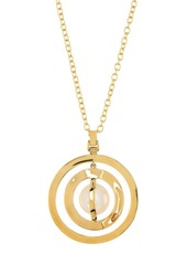 Ippolita 18K Gold Senso(TM) Double Disc & Wrapped Mother-of-Pearl Pendant Necklace