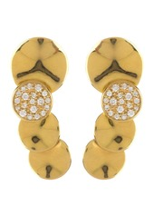 Ippolita 18K Gold Stardust Small Wavy Diamond Overlapping Disc Earrings - 0.18 ctw