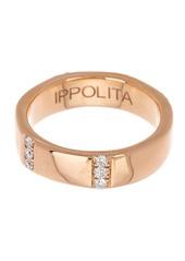 Ippolita 18K Rose Gold 5-Section Diamond Ring - 0.30 ctw - Size 7