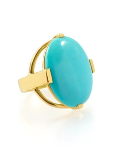 Ippolita 18kt gold yellow gold Polished Rock Candy turquoise oval ring
