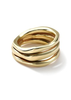Ippolita 18kt yellow gold Classico smooth Squiggle triple band ring