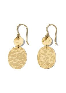 18kt yellow gold Crinkle Snowman earrings