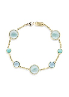 Ippolita 18kt yellow gold Lollipop 7 stone bracelet