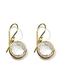 Ippolita 18kt yellow gold Lollipop clear quartz drop earrings