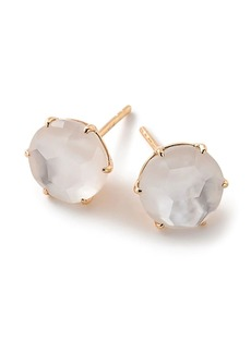 Ippolita 18kt yellow gold medium Rock Candy mother-of-pearl and clear quartz studs