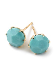 Ippolita 18kt yellow gold medium Rock Candy turquoise studs