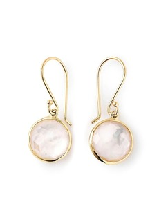 Ippolita 18kt yellow gold mini Lollipop mother-of-pearl and quartz drop earrings
