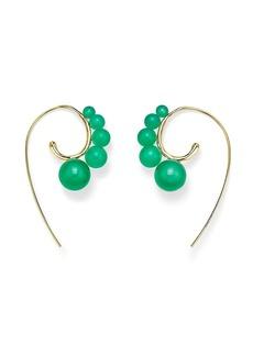 Ippolita 18kt yellow gold Nova curved ear wire agate earrings