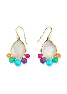 Ippolita 18kt yellow gold Nova multi gemstone drop earrings
