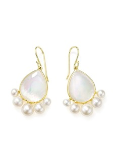 Ippolita 18kt yellow gold Nova pearl drop earrings