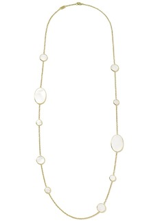 Ippolita 18kt yellow gold Polished Rock Candy mother-of-pearl station necklace