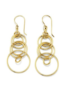 Ippolita 18kt yellow gold small Classico smooth Jet Set diamond earrings