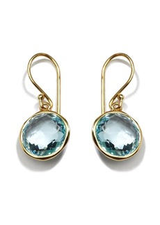 Ippolita 18kt yellow gold small Lollipop blue topaz drop earrings