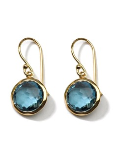 Ippolita 18kt yellow gold small Lollipop London blue topaz drop earrings