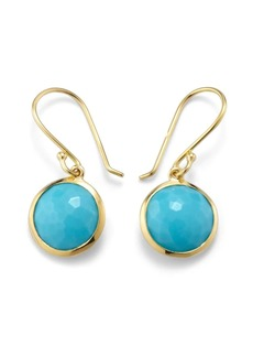 Ippolita 18kt yellow gold small Lollipop turquoise drop earrings