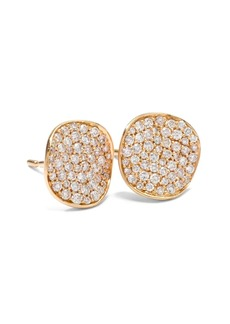 Ippolita 18kt yellow gold small Stardust Flower pave diamond studs