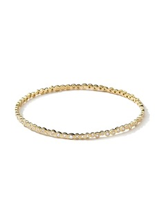 Ippolita 18kt yellow gold Stardust Starlet diamond bangle