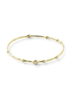 Ippolita 18kt yellow gold Stardust Superstar 9 diamond bangle