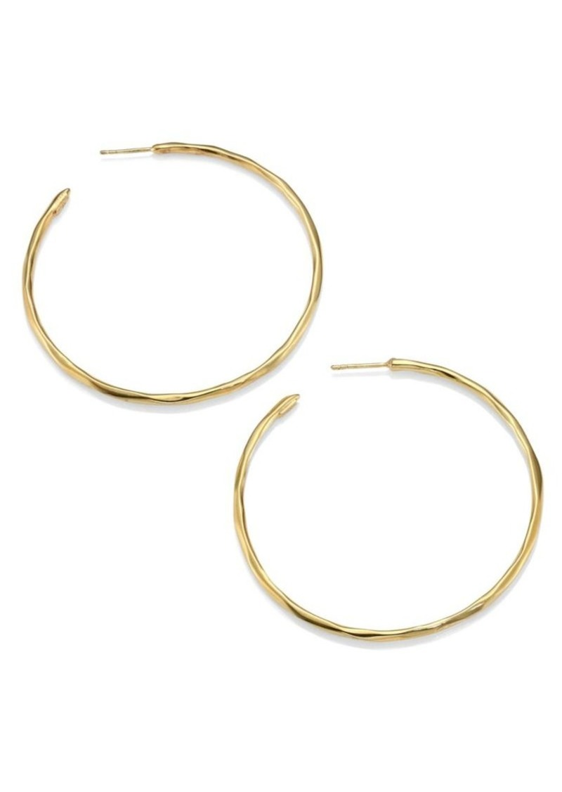 Ippolita Classico Medium 18K Yellow Gold Faceted Hoop Earrings