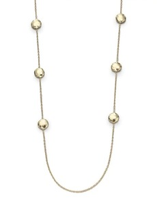 Ippolita Classico Long 18K Yellow Gold Hammered Pinball Multi-Station Layering Necklace