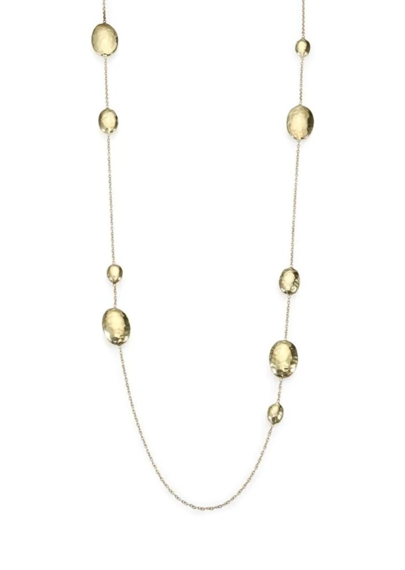 Ippolita Classico Long 18K Yellow Gold Hammered Multi-Station Layering Necklace