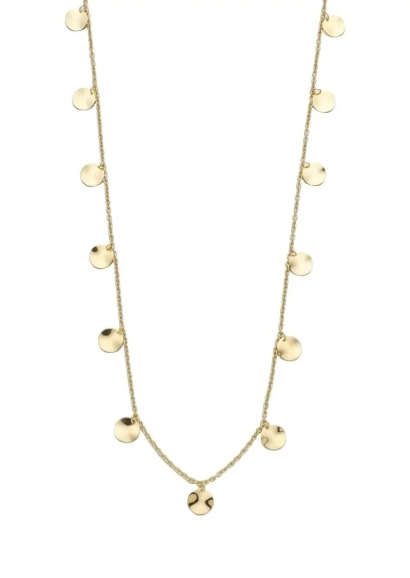 Ippolita Classico Long 18K Yellow Gold Paillette Layering Necklace