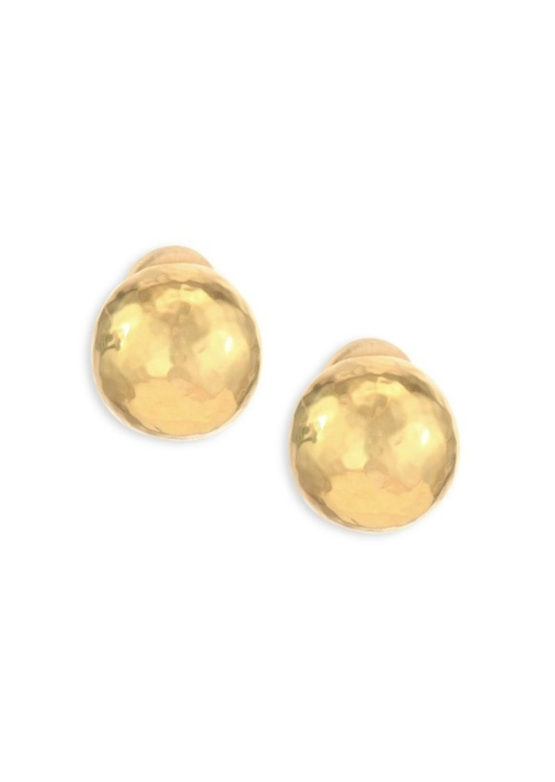 Ippolita Classico Medium 18K Yellow Gold Hammered Pinball Clip-On Earrings
