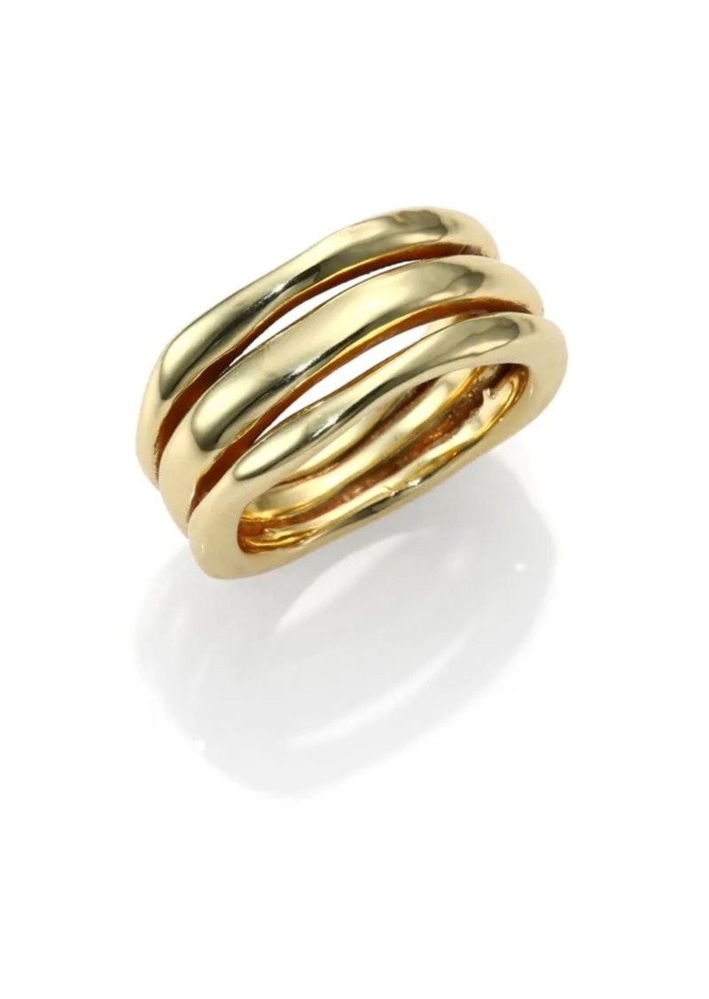 Ippolita Classico 18K Yellow Gold Smooth Squiggle Triple-Bang Ring