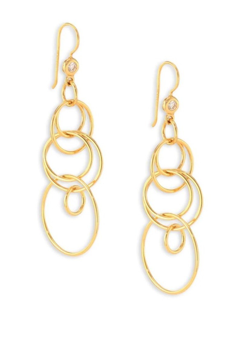 Ippolita Classico Small 18K Yellow Gold Smooth Jet Set Earrings