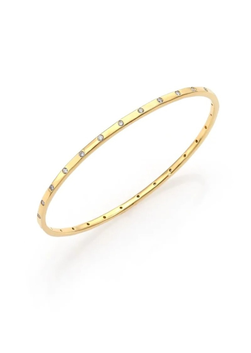 Ippolita Stardust 18K Yellow Gold & 28-Diamond Bangle Bracelet