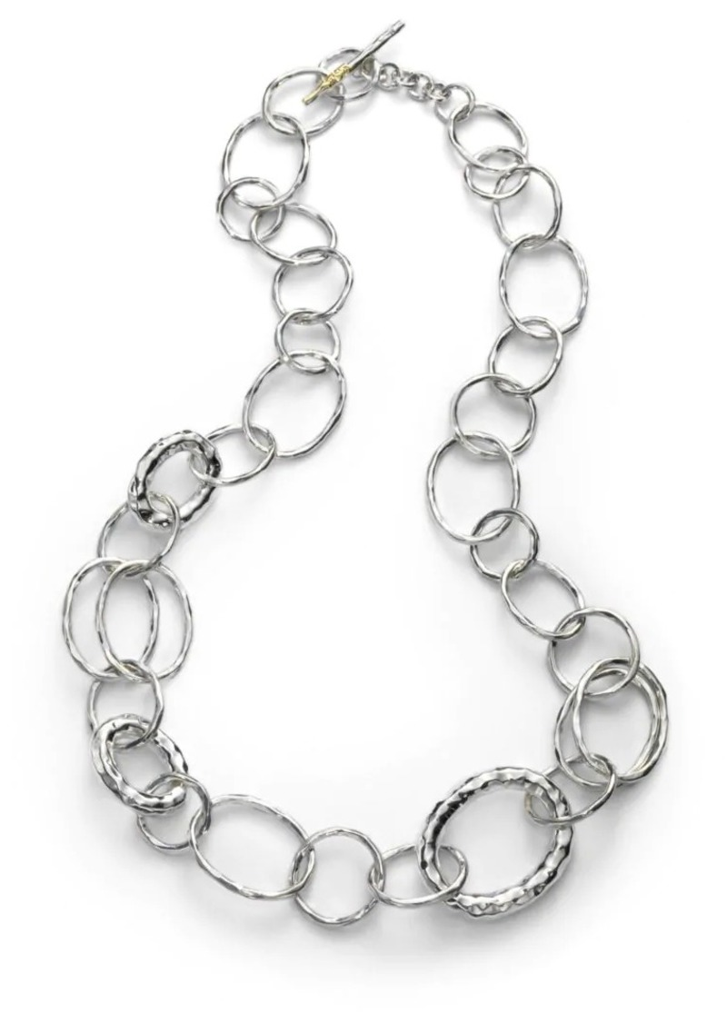 Ippolita Classico Small Sterling Silver Hammered Bastille Link Necklace