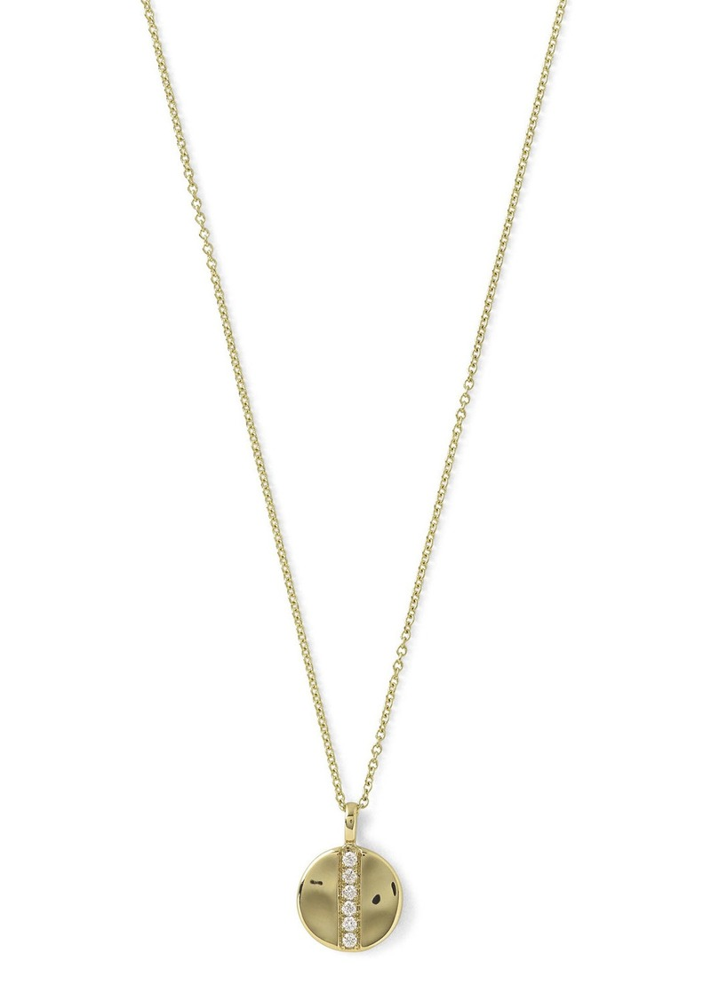 Ippolita 18K Glamazon Mini Disc Pendant Necklace with Diamonds