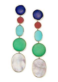 Ippolita 18K Polished Rock Candy Long Linear Earrings in Viareggio
