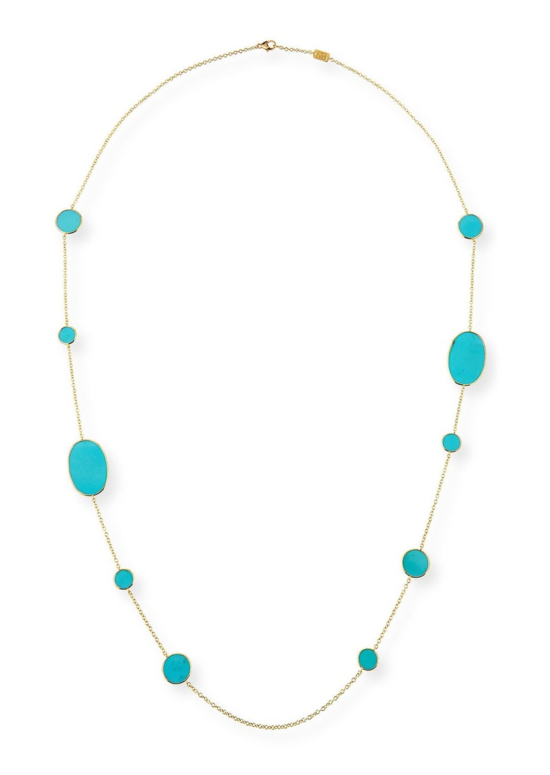 Ippolita 18k Polished Rock Candy Turquoise Station Necklace