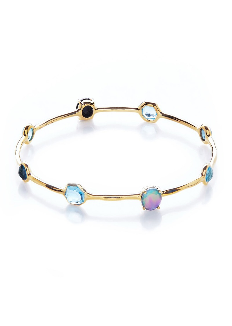 Ippolita 18K Rock Candy 8-Stone Bangle in Midnight Rain
