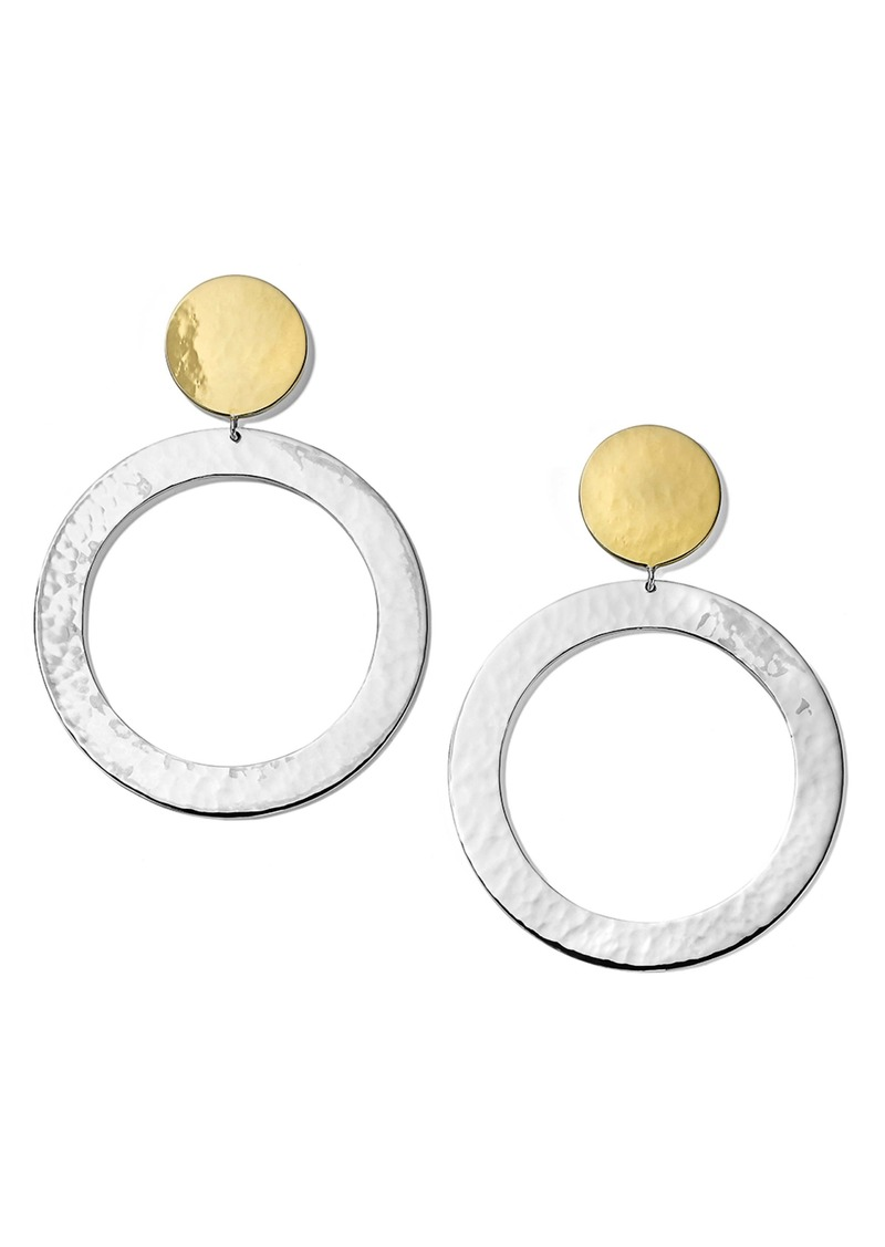 Ippolita Chimera Classico Hammered Hoop Drop Earrings