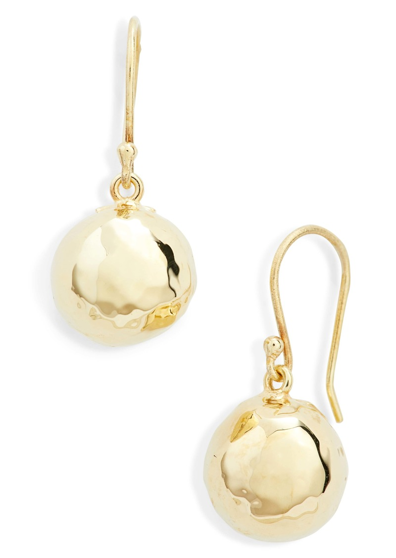 Ippolita Classico 18K Gold Half Ball Drop Earrings