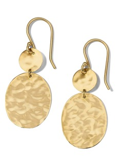 Ippolita Classico Hammered Circle & Oval Drop Earrings